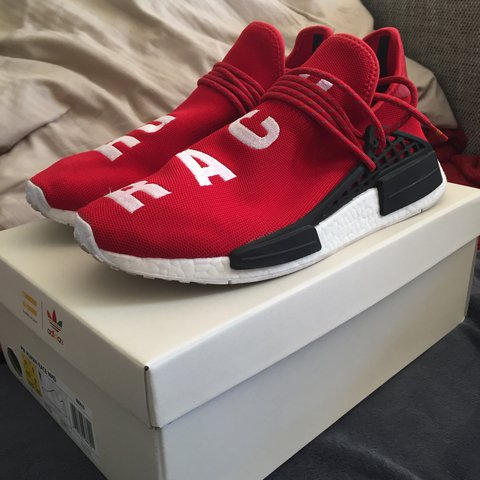 acb8f5fff845f Adidas PW Human Race NMD Red UK 9   US 9.5