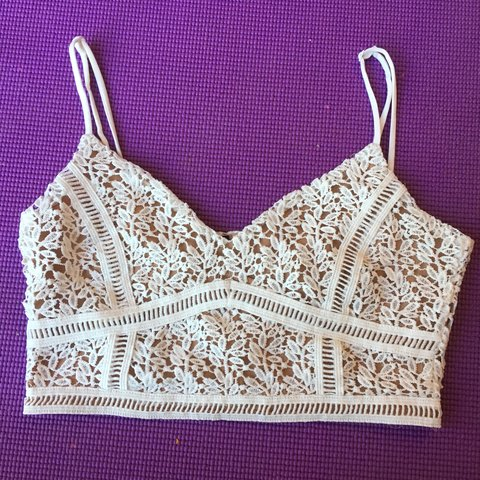 0585bae337d98 CROCHET KENDALL AND KYLIE PACSUN COLLECTION BRALETTE. NO NO - Depop