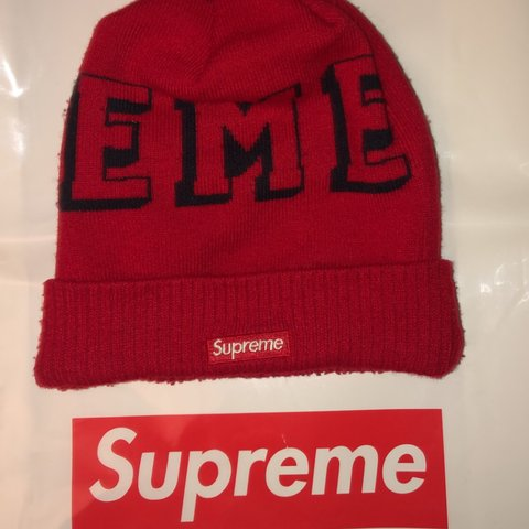 1aefda38 Supreme mini box logo wooly bobble hat/beanie - from - only - Depop