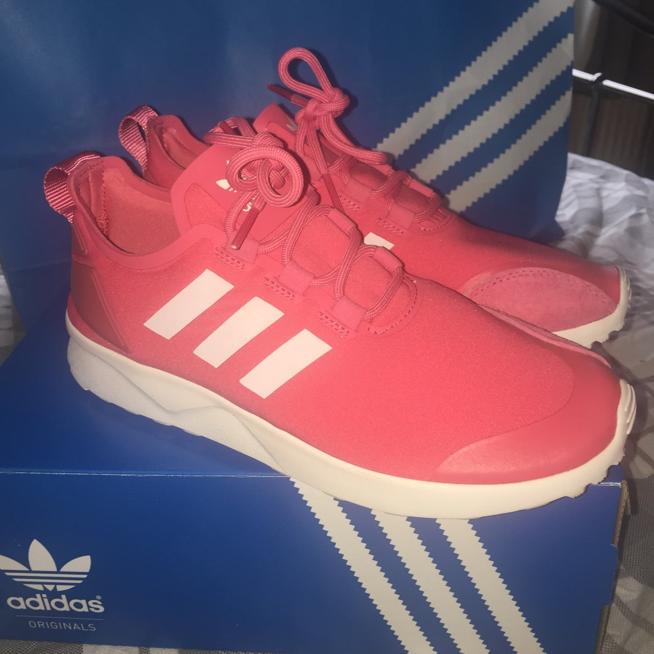 1bfe8c942d9f2 REDUCED PRICE   Adidas ZX Flux Adv Verve Trainers in Pink - Depop