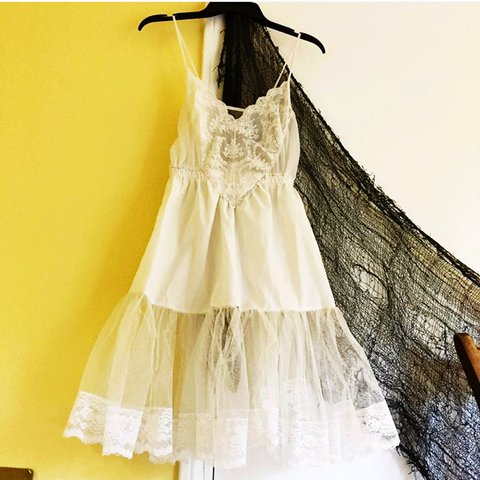 0bb21674f3e3 Angel Baby dress 🌠 Sweet sexy white lace slip dress that I - Depop