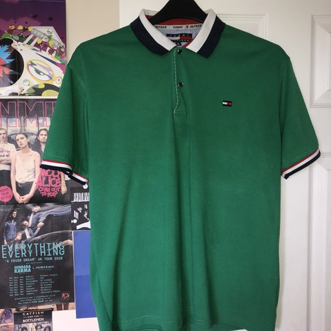 ec36b372 @ewandevenay. 2 months ago. Buckingham, United Kingdom. TOMMY HILFIGER POLO💘  Green polo with the