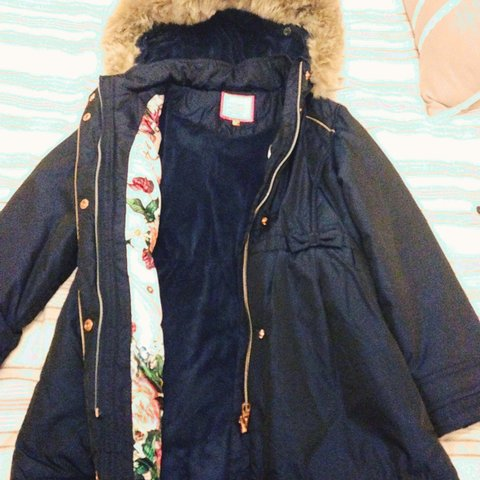 3609bf132 Navy girls ted baker coat. Age 10 but small fit. Like new in - Depop