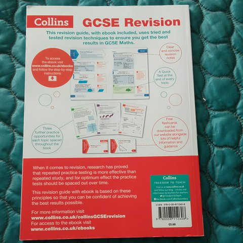 Collins book for gcse maths higher tier revision guide it i depop xsabrinax fandeluxe Images