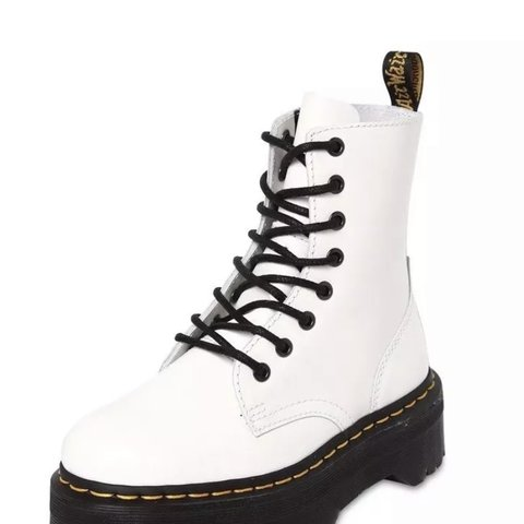 7aaf01a8ab8b @emersonreece. 6 months ago. Brentwood, United Kingdom. Dr Martens jadon  boot size 5 white brand new in box