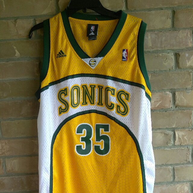 size 40 d113e 62463 NBA Seattle Sonics Kevin Durant Rookie Adidas Jersey ...