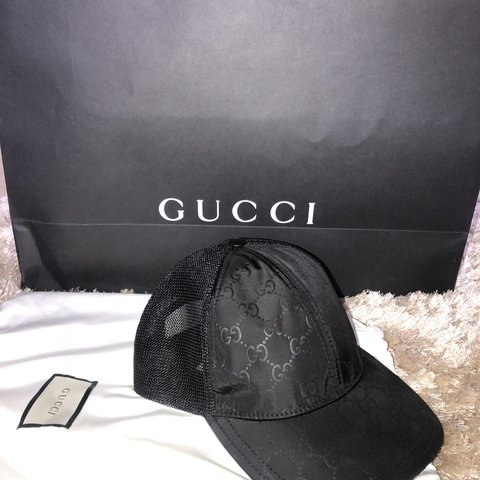 db4653301a30a Gucci Black GG Baseball Cap. Out of box condition. RRP £200 - Depop
