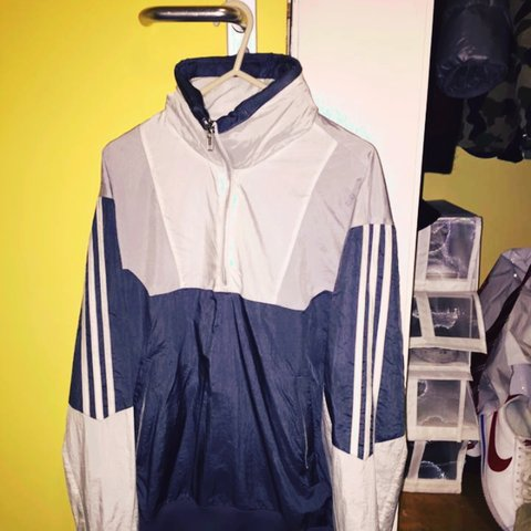 new product 8ce92 3e9aa ADIDAS X PALACE TRACK TOP 1 in Onix   White. WTS or trade as - Depop