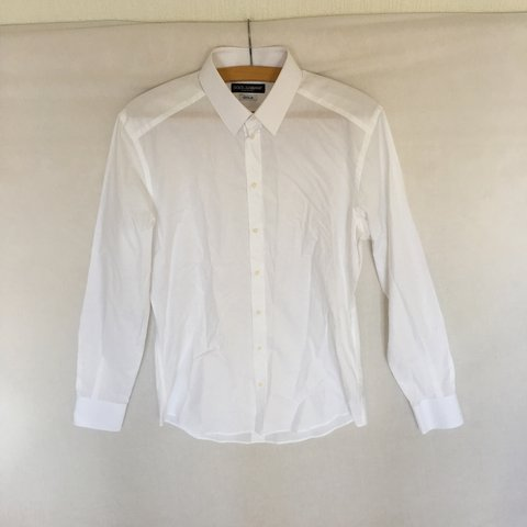 369fe0811 Men's White Dolce & Gabbana, D&G, DG (Gold-Fit) Shirt. Great - Depop