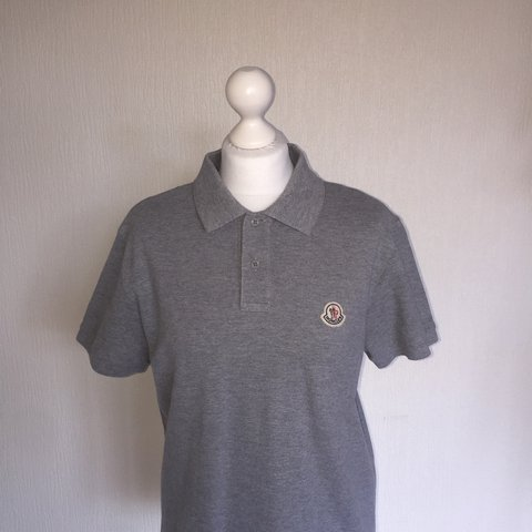 ae38cd1a @harrisonwild. 2 years ago. Wallasey, United Kingdom. Men's Grey 100%  Authentic Moncler Polo Size Large ...