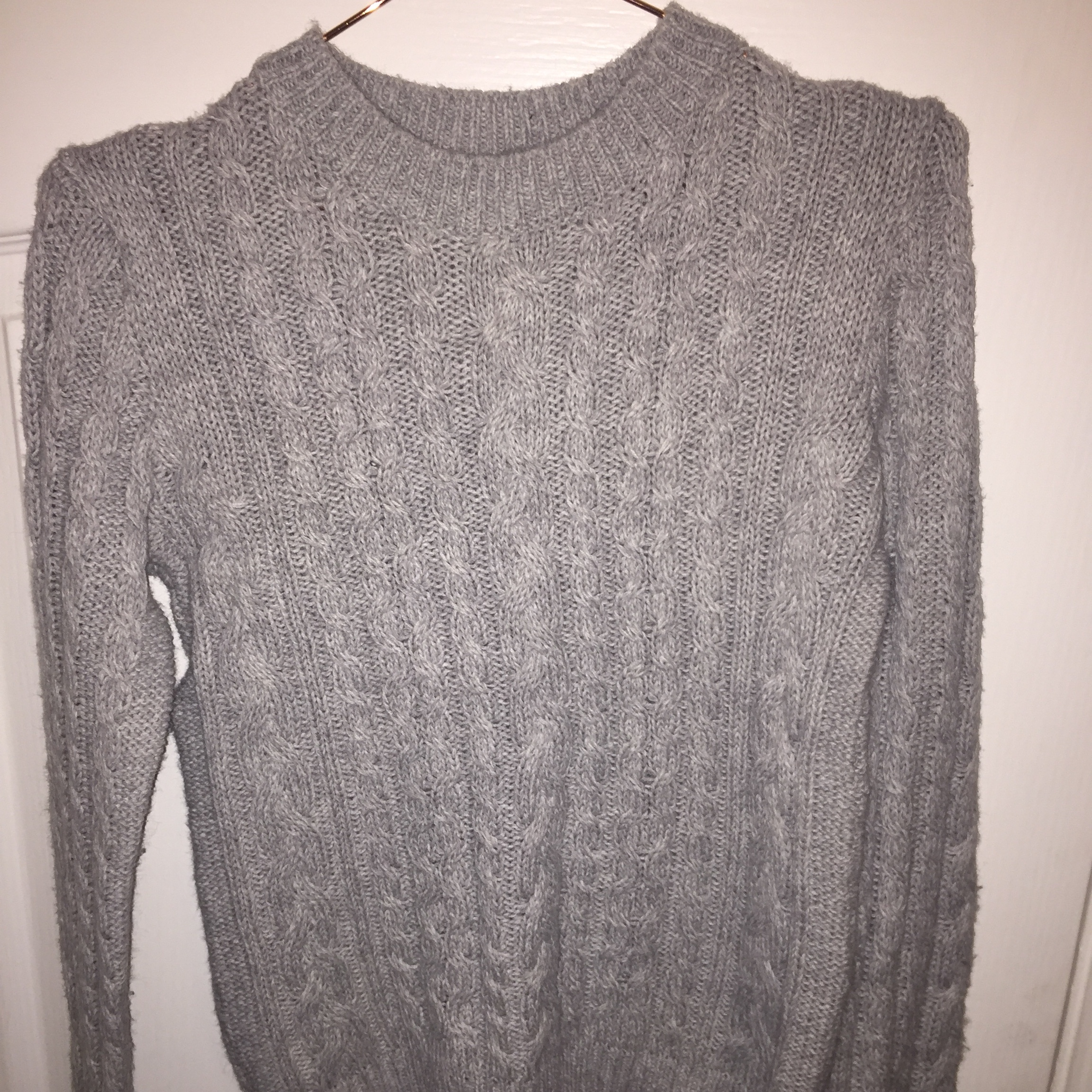 Grey cable knit jumper. Primark. Size 8. Worn once or twice - Depop 940c7a3e9