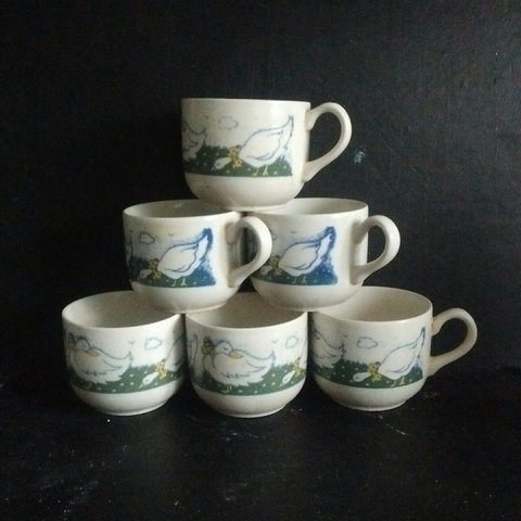 6 Cups EIT LTD ENGLAND, (English Ironstone Tableware) duck - Depop