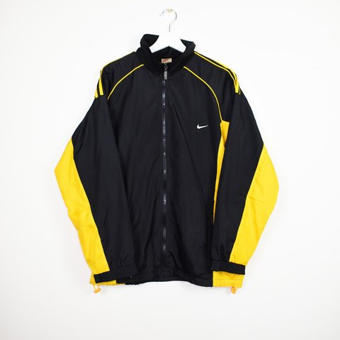 5d88495b5 Nike jacket. Black and yellow. Recommended size - L Chest - Depop