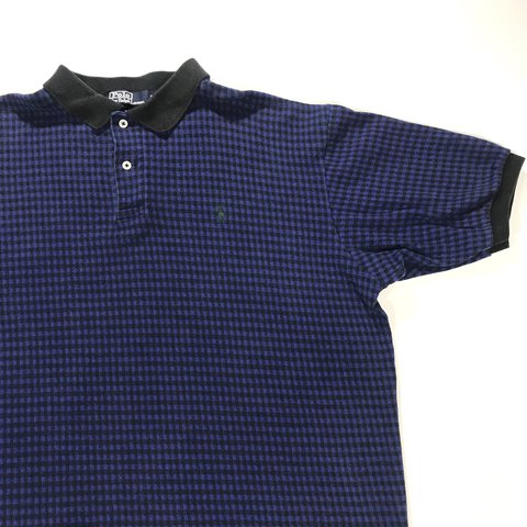 b28687ea Vintage 90's Polo Ralph Lauren polo. Made in USA. Blue plaid - Depop