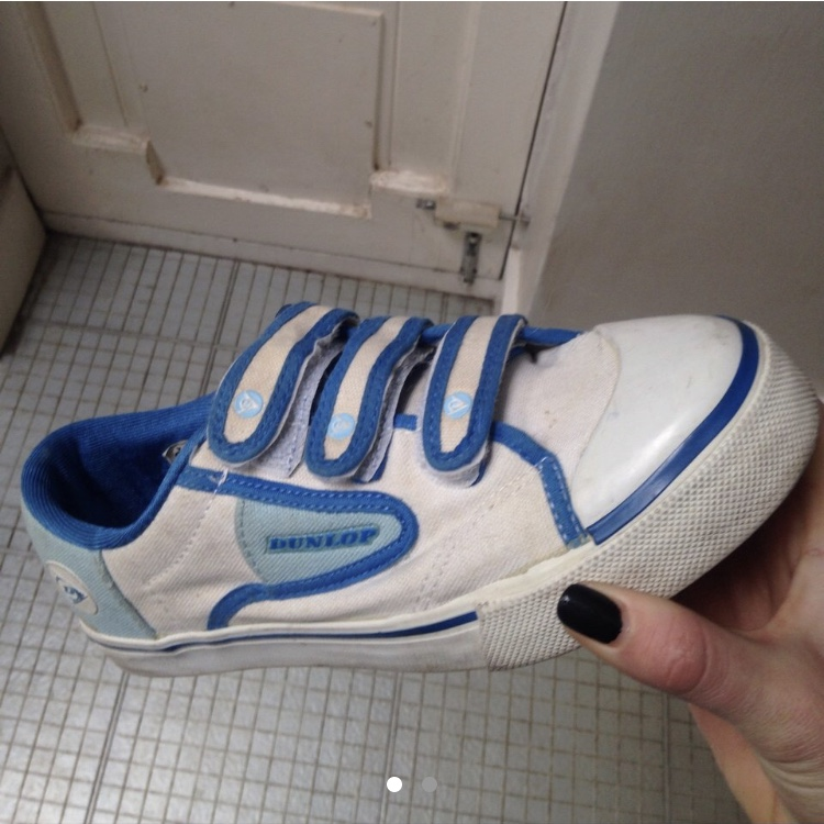 Dunlop trainers with Velcro straps