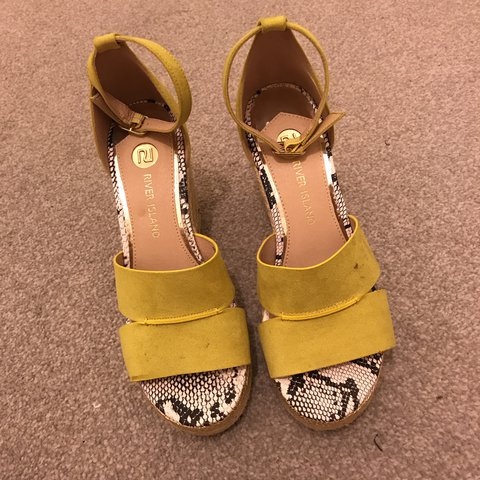 2f3684f20 River island size 5 lime suede wedges. Never worn