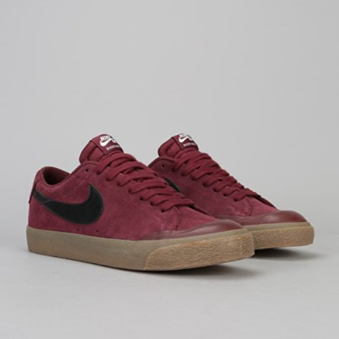2865d7b29a66 Nike SB Skate Shoes Blazer Low XT - Dark Team Red Black-Gum -