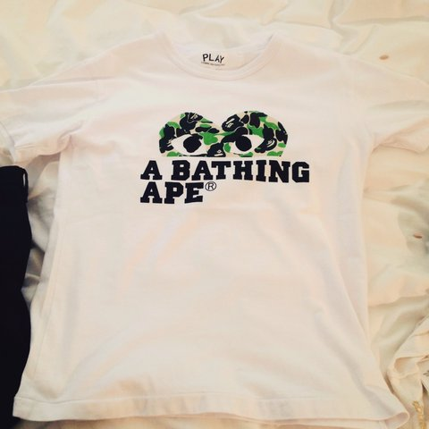 ee34f285 @amitavtar. 3 years ago. Maidenhead, Maidenhead, Windsor and Maidenhead  SL6, UK. CDG X BAPE T Shirt. Only worn once. Pm for details ...