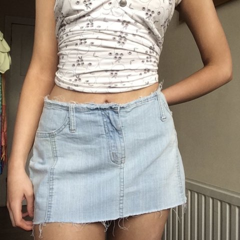 74860a65057222 @macfieemily. 2 months ago. London, United Kingdom. Cutest denim low rise  skirt with panel detail ...