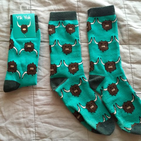 Authentic Yik Yak socks! One size fits most! All purchases - Depop b3832a5a778a