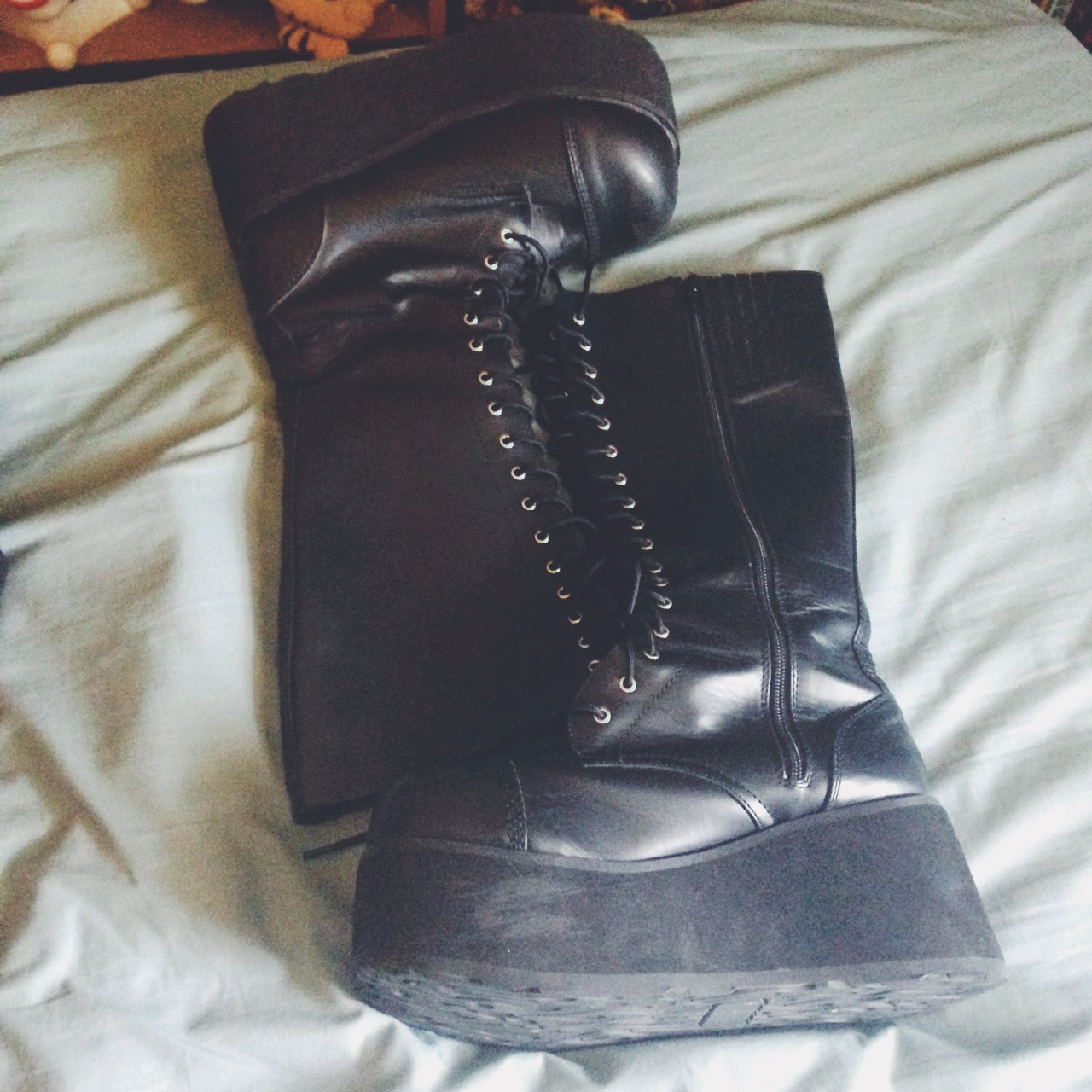 Knock Off Demonia Boots Size 14 Women Lace Up With Depop