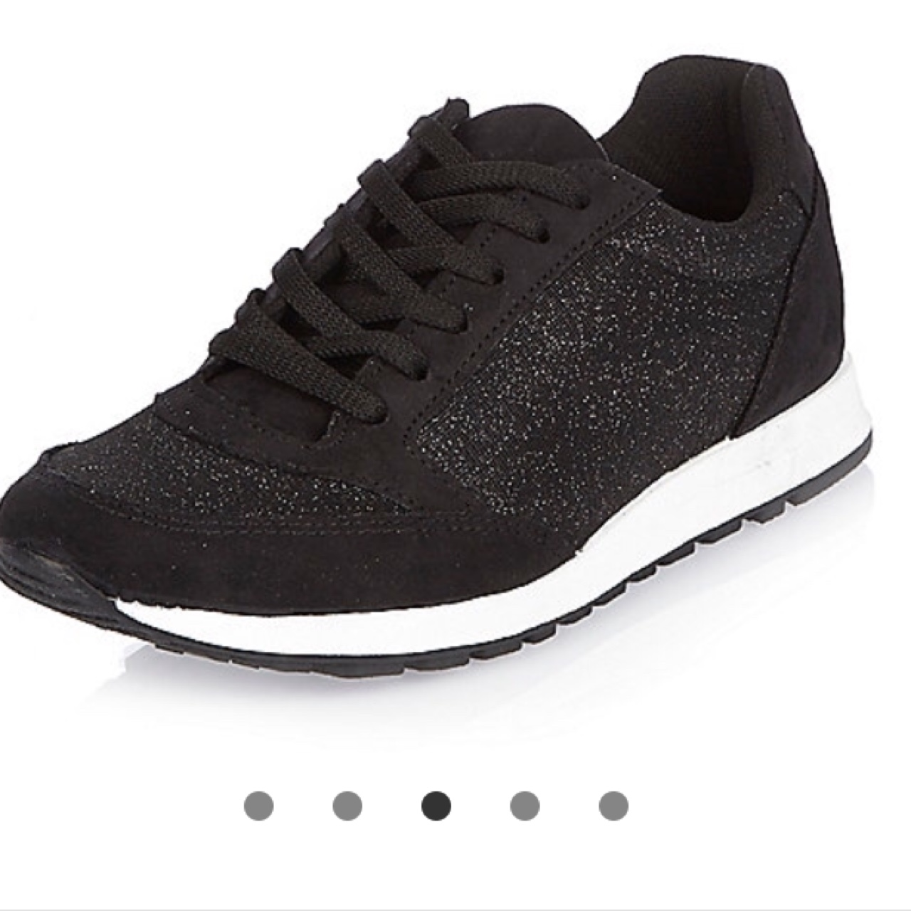 black glitter trainers worn once