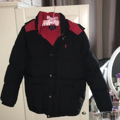 4a9704894 @oliviawalterxo. 2 years ago. Oxted, United Kingdom. Ralph Lauren red &  black puffer puffa coat jacket ♥ boys size ...