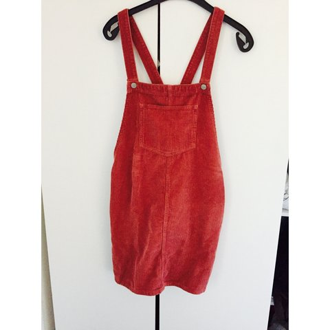 4473293b72a Topshop cord pinafore dress size 12. Only worn once. Perfect - Depop