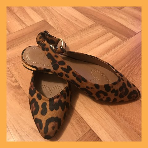 2f55dc5e6 Katherina ballet sling back shoes in size 4 leopard print on - Depop