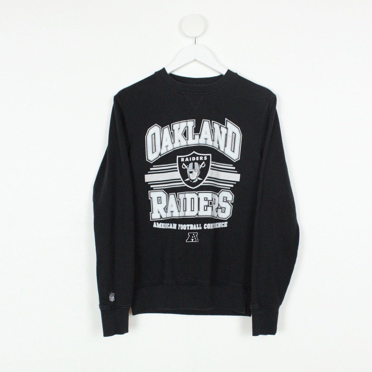 f2446cd9816 Men s Vintage NFL Oakland Raiders Sweatshirt Black - Size a - Depop