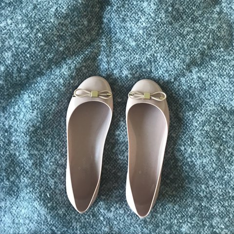 298fed9ef953 Authentic Kate spade baby pink dolly shoes. Original box not - Depop