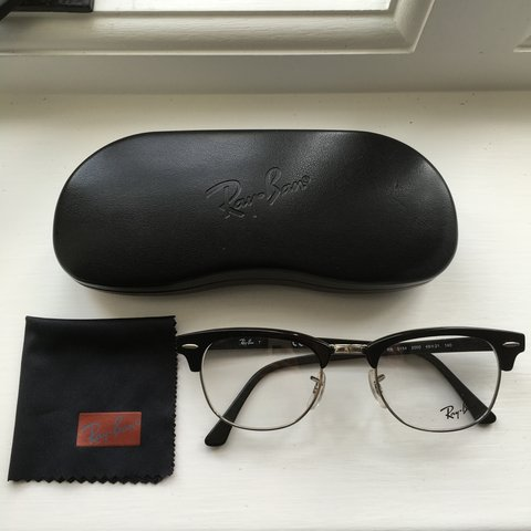 53bcea6474 Ray Ban Clubmaster Glasses - Black - 5154 2000 - 100%   come - Depop