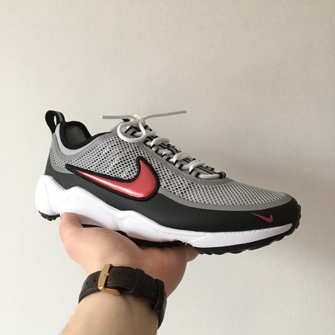 5056b75efbdb4 Nike Air Zoom Spiridon Ultra • Metallic silver black red • • - Depop