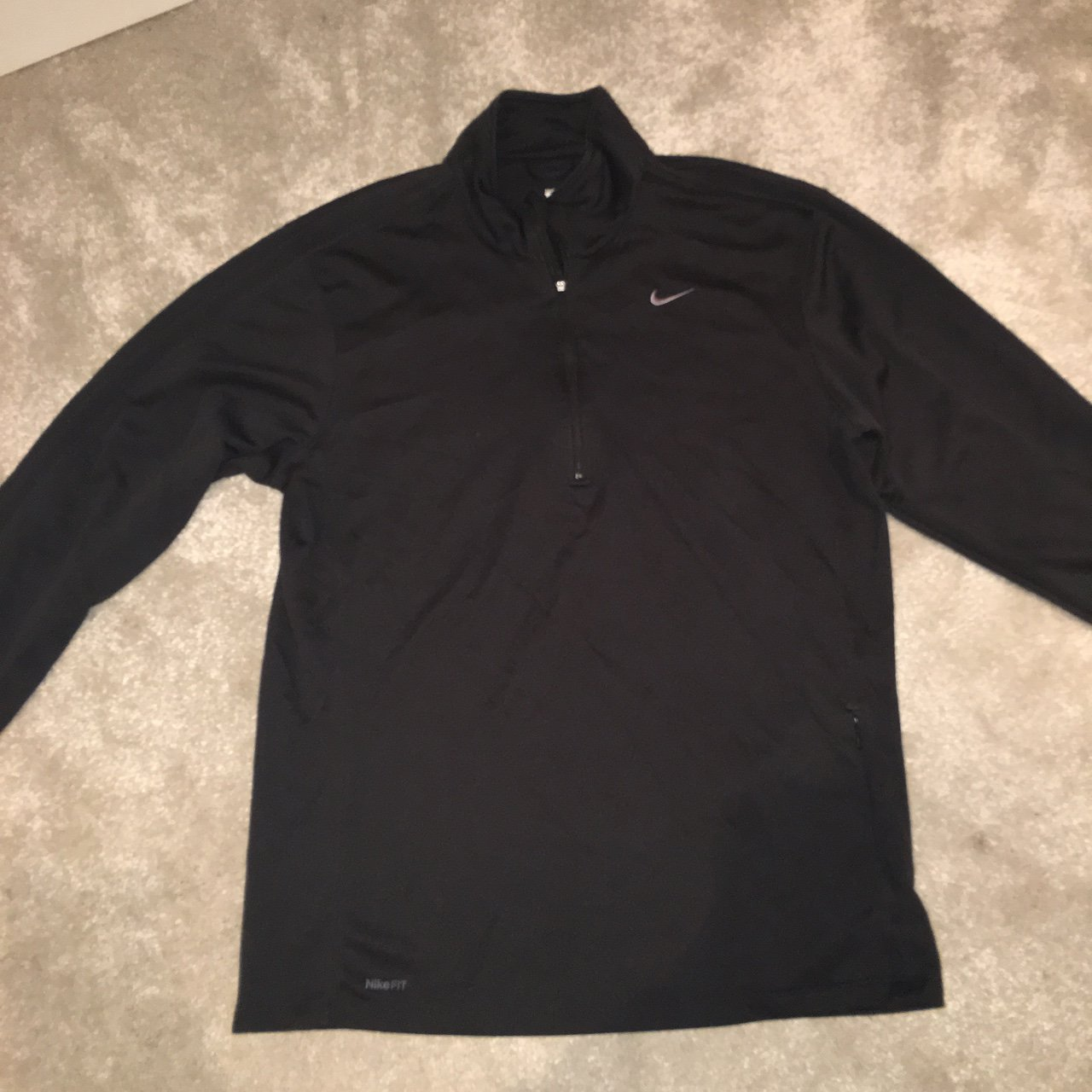 e7328bed57 Men's Nike 3/4 zip top. Size medium. Perfect for over shorts - Depop