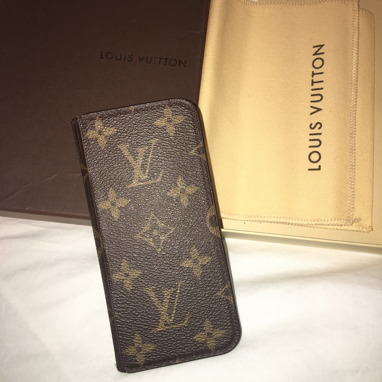 41266b4e8ea Louis Vuitton iPhone 6 Cover. Like new bought from... - Depop