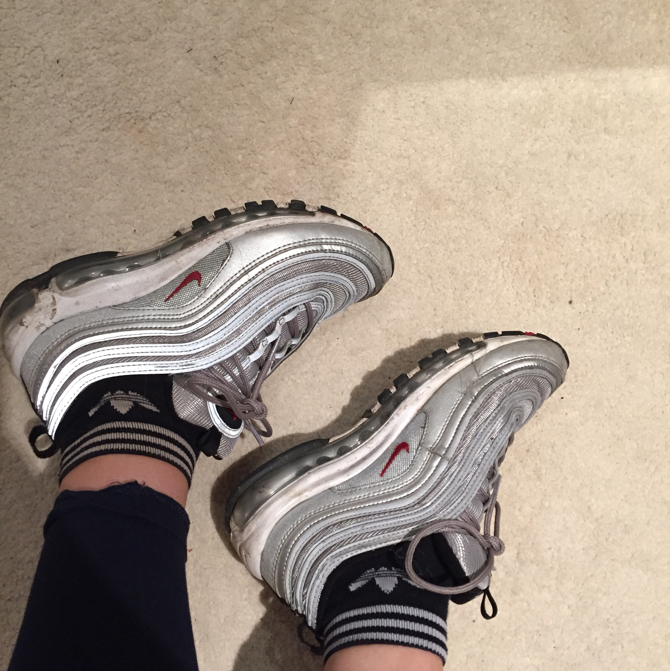 detailed pictures 14ead 2a533 Air max 97's silver ! Going cheap ' I know they look... - Depop