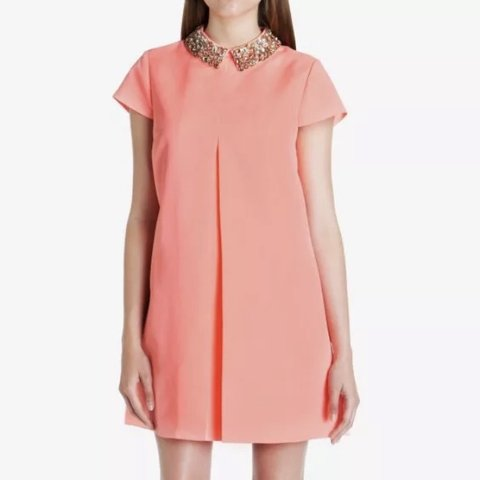 e07fd42e2 Ted baker Enid coral dress size 1 fits uk 8 new without tags - Depop