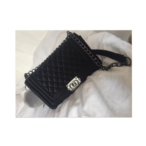 d9a2a9083f4f @justclothes. 3 years ago. Cheltenham, Cheltenham, Gloucestershire, UK. Chanel  boy bag inspired black cross body ...