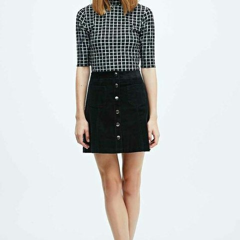 3d05685bc7 @urlplankton. 3 years ago. Stafford, UK. Urban outfitters cooperative black  cord a line button down skirt ...
