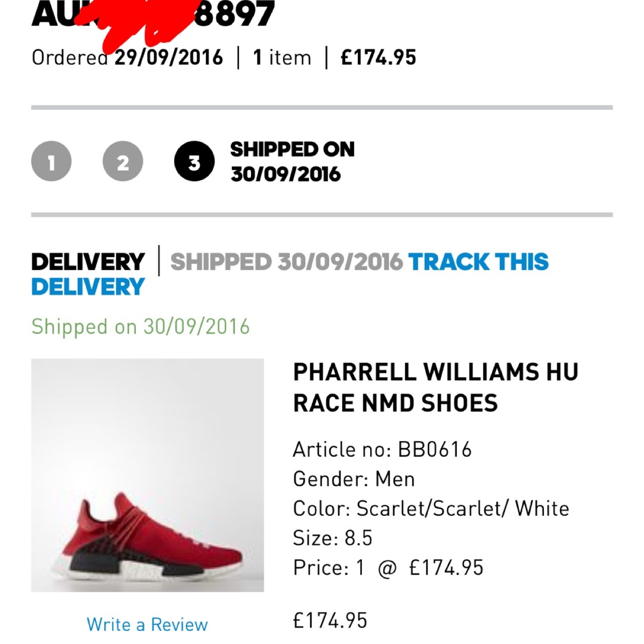 hot sale online 88159 8de90 Adidas Pharrell Williams HU Race NMD Shoes - RED ...