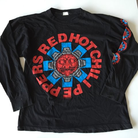 c477b5a0 1991 Red Hot Chili Peppers long sleeve vintage Tshirt Real - Depop