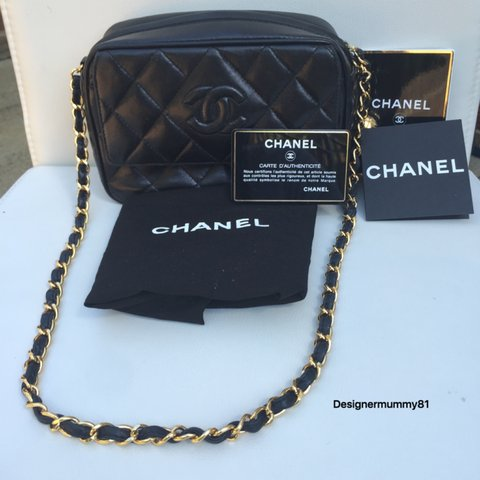 ebb8995ef87e @oyeinvic. 2 years ago. Orpington BR5 2FF, UK. CHANEL vintage mini SHOULDER  BAG with front flap and gold-toned tassel for sale.Its a black lambskin ...