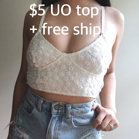 50bb83b6506905  feelingfree. 10 months ago. United States. Free 2-day priority shipping!  Urban Outfitters cream floral crop top   bralette with cute lil embroidered  ...