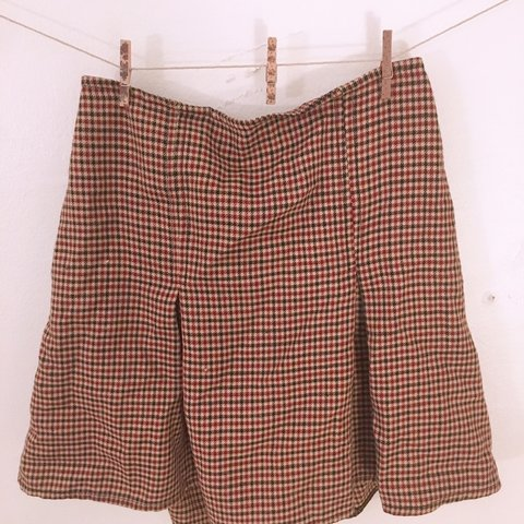 0064499b6b @feelingfree. 2 days ago. United States. Rare Brandy Melville plaid double  pleated mini skirt.