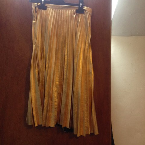 dad5686863 @ifescloset. 10 months ago. Nottingham, UK. Gold pleated skirt from H&M ...