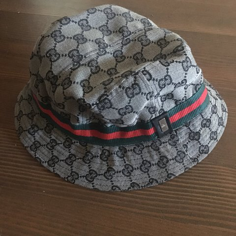 8777ececbcfd1 Authentic GUCCI bucket hat. I think it may be a kids hat XL - Depop