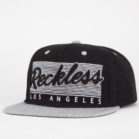 740d325e77838 spain young reckless black flat bill snapback hat c3b0c 08b4b  italy young  and reckless los angeles snapback one size in depop 69046 50425