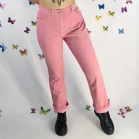 82a5a64a Omg..Vintage Bubblegum pink corduroy pants! Super soft, so - Depop