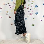 bb6ed6c3ef29 GRUNGE Ditsy floral printed tiered ruffle maxi skirt. Dress - Depop