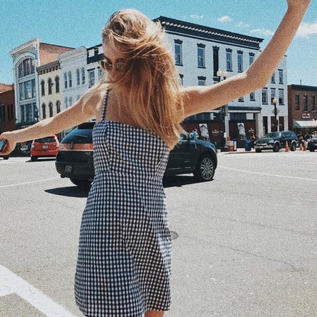 48d1e30834 @agentsansvisage. 3 months ago. Los Angeles, United States. Brandy Melville  Karla gingham mini dress | black white ...